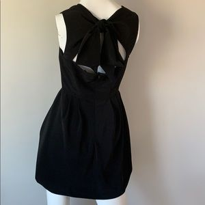 ASOS black formal dress.